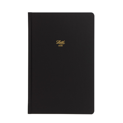 "Letts Icon Hardcover Notebook - 5 1/8"" x 7 7/8"" - Dot Grid - Black"