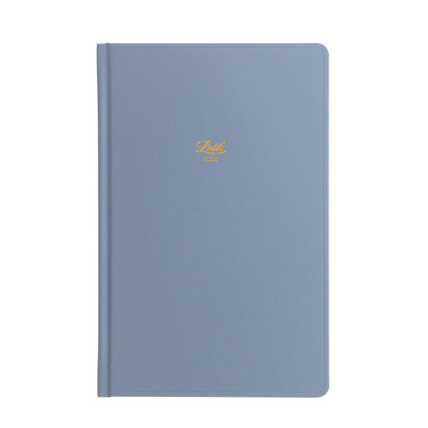 "Letts Icon Hardcover Notebook - 5 1/8"" x 7 7/8"" - Dot Grid - Blue"