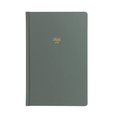 "Letts Icon Hardcover Notebook - 5 1/8"" x 7 7/8"" - Dot Grid - Green"