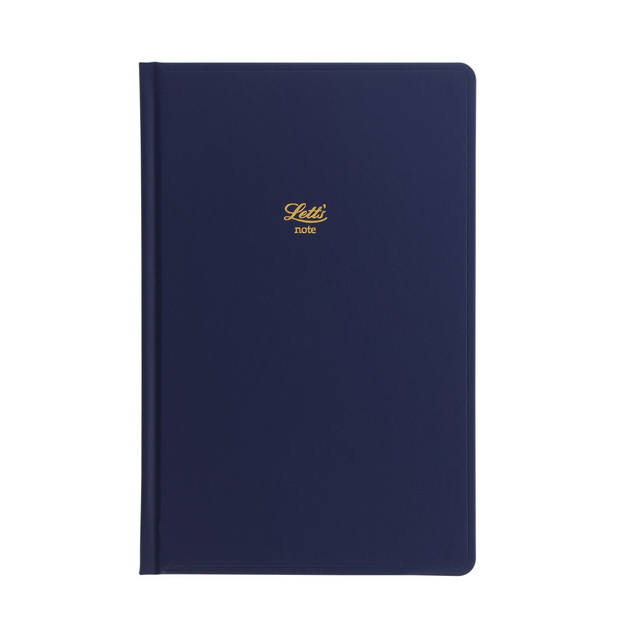 "Letts Icon Hardcover Notebook - 5 1/8"" x 7 7/8"" - Dot Grid - Navy"