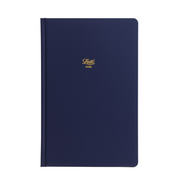 "Letts Icon Hardcover Notebook - 5 1/8"" x 7 7/8"" - Ruled - Navy"