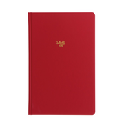 "Letts Icon Hardcover Notebook - 5 1/8"" x 7 7/8"" - Dot Grid - Red"