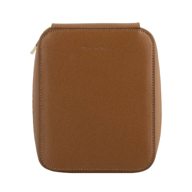 Visconti Leather 6 Pen Holder - Brown