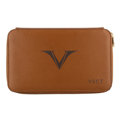 Visconti Leather 12 Pen Holder - Brown