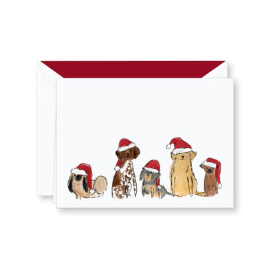 Santa Dogs Holiday Greeting Card