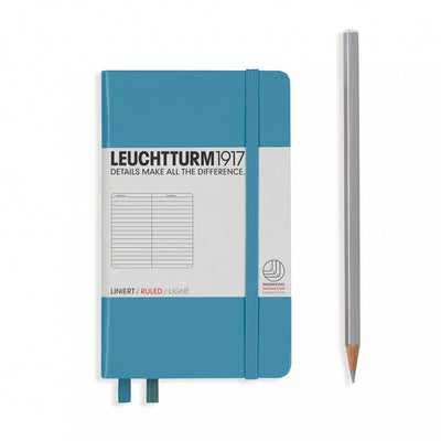 Leuchtturm A6 Hardcover Notebook - Nordic Blue - Ruled