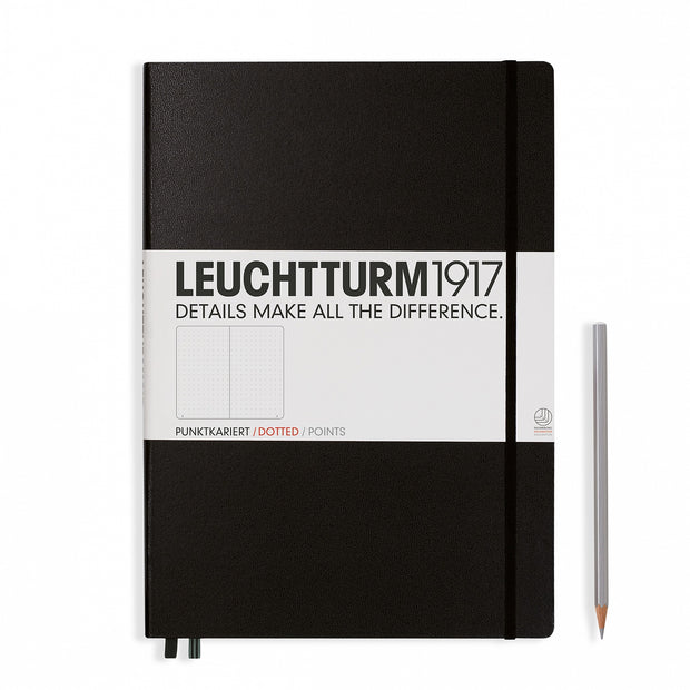 Leuchtturm A4 Hardcover Notebook - Black - Dot Grid