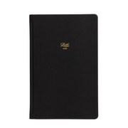 "Letts Legacy Hardcover Notebook - 5 1/8"" x 7 7/8"" - Ruled - Black"