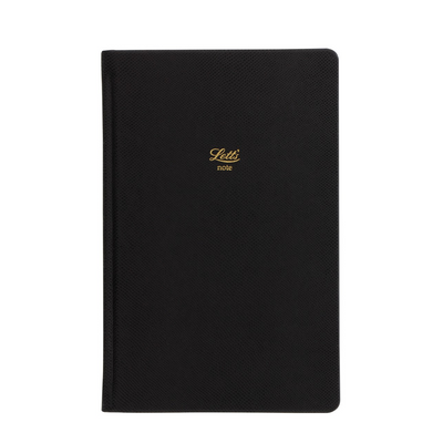 "Letts Legacy Hardcover Notebook - 5 1/8"" x 7 7/8"" - Dot Grid - Black"