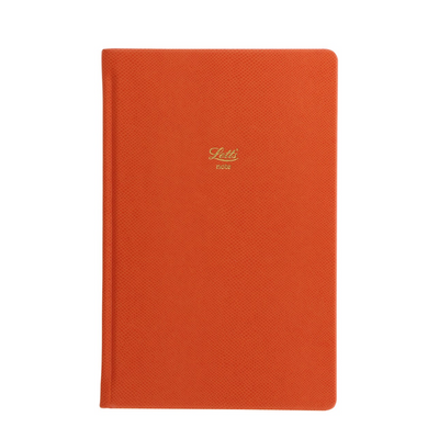 "Letts Legacy Hardcover Notebook - 5 1/8"" x 7 7/8"" - Ruled - Orange"