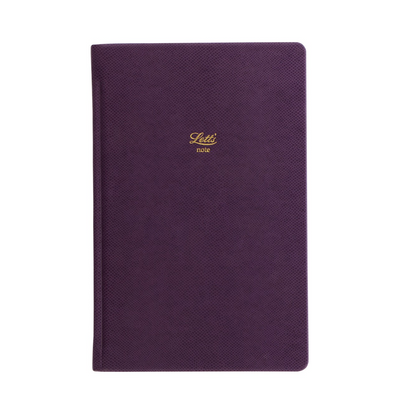 "Letts Legacy Hardcover Notebook - 5 1/8"" x 7 7/8"" - Dot Grid - Purple"