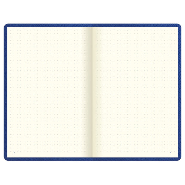"Letts Legacy Hardcover Notebook - 5 1/8"" x 7 7/8"" - Dot Grid - Blue"