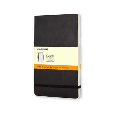 Moleskine Classic Reporter Notebook - Softcover A5 - Ruled - Black
