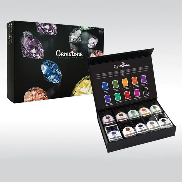Monteverde 10 Piece Bottled Ink Set - Gem Stones - 30ml Bottles