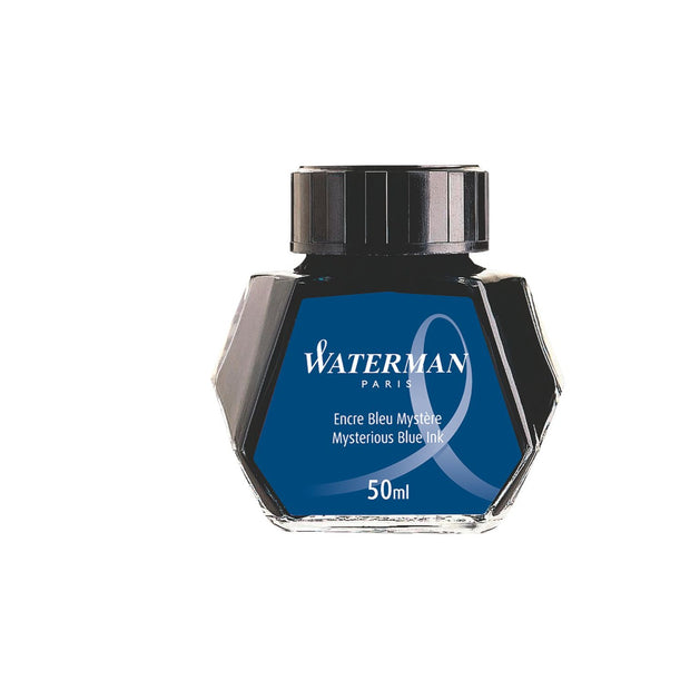Waterman Mysterious Blue - 50ml Bottled Ink
