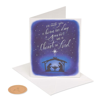 Papyrus Boxed Cards - NATIVITY SILHOUETT