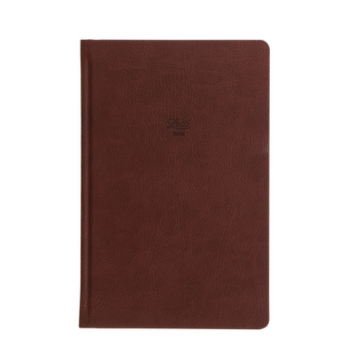 "Letts Origins Hardcover Notebook - 5 1/8"" x 7 7/8"" - Dot Grid - Chocolate"