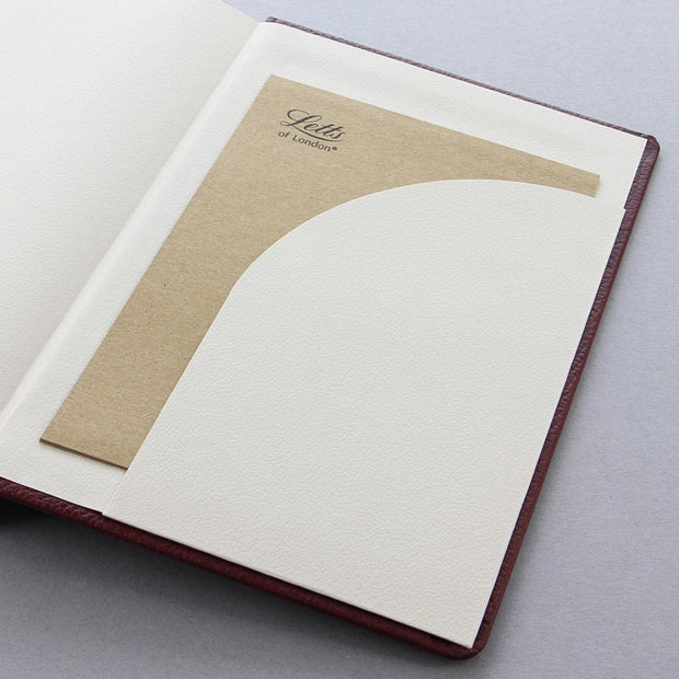 "Letts Origins Hardcover Notebook - 5 1/8"" x 7 7/8"" - Ruled - Chocolate"
