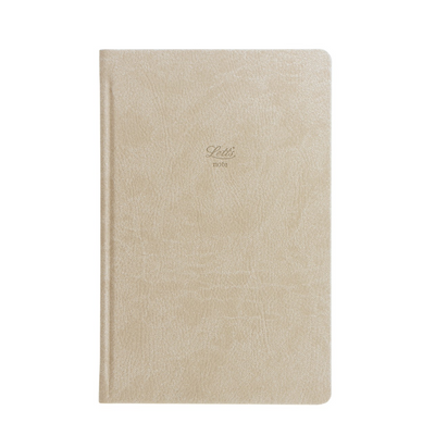 "Letts Origins Hardcover Notebook - 5 1/8"" x 7 7/8"" - Ruled - Stone"