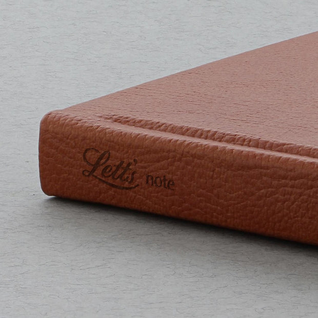 "Letts Origins Hardcover Notebook - 5 1/8"" x 7 7/8"" - Ruled - Tan"