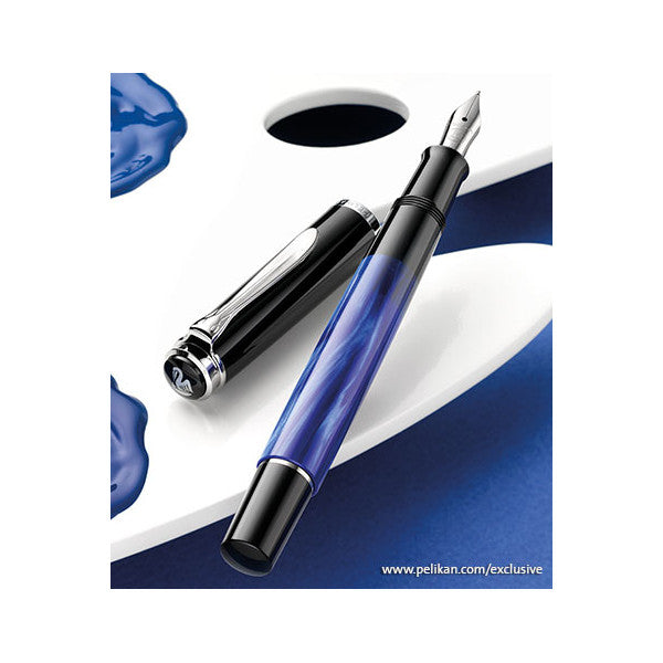 Pelikan Classic M205 Fountain Pen - Blue Marble