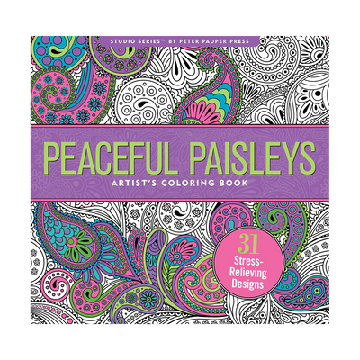 Peaceful Paisleys Adult Coloring Book