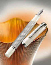 Pelikan Souveran M405 Fountain pen - Silver-White (Special Edition)