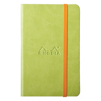 Rhodia Rhodiarama A5 Hard Cover Notebook - Ruled - Anise
