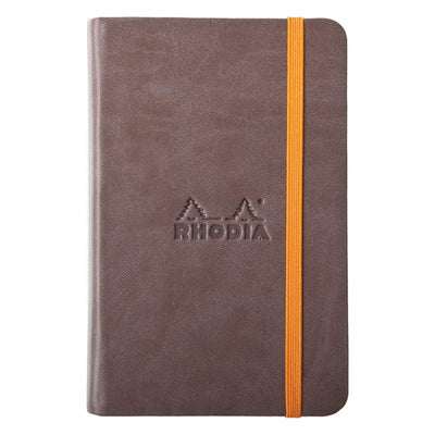 Rhodia Rhodiarama A5 Hard Cover Notebook - Plain - Chocolate