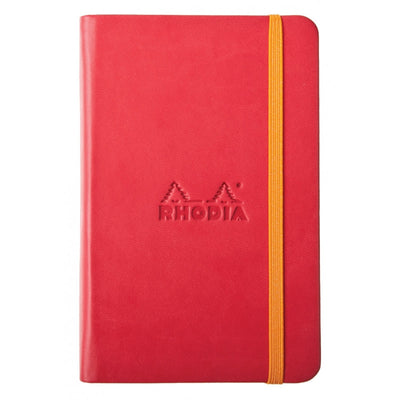 Rhodia Rhodiarama A5 Hard Cover Notebook - Plain - Poppy