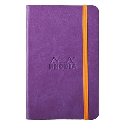 Rhodia Rhodiarama A5 Hard Cover Notebook - Plain - Purple