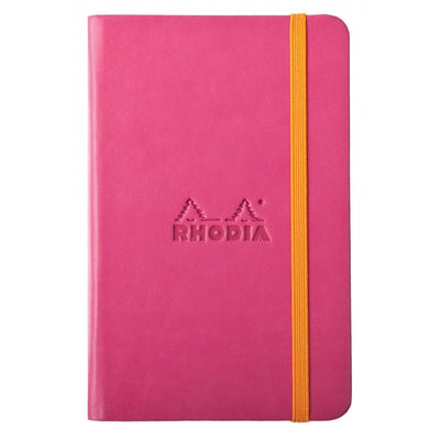 Rhodia Rhodiarama A5 Hard Cover Notebook - Plain - Raspberry
