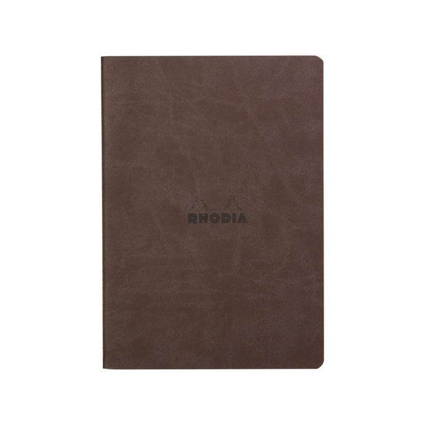 Rhodia Sewn Spine A5 Notebook - Dot Grid - Chocolate