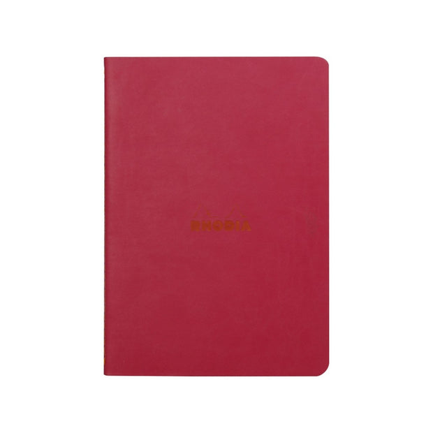Rhodia Sewn Spine A5 Notebook - Dot Grid - Raspberry