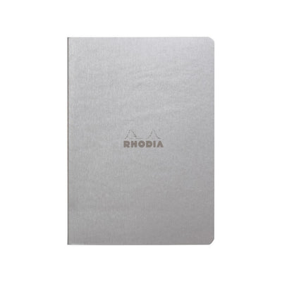 Rhodia Sewn Spine A5 Notebook - Dot Grid - Silver