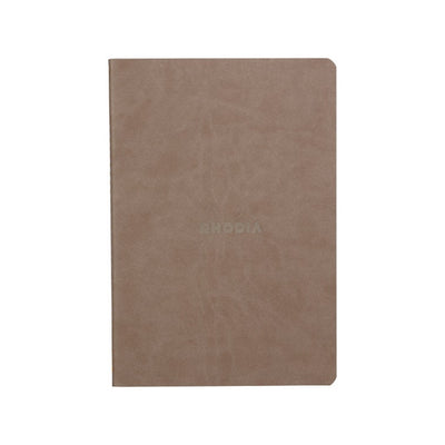 Rhodia Sewn Spine A5 Notebook - Dot Grid - Taupe