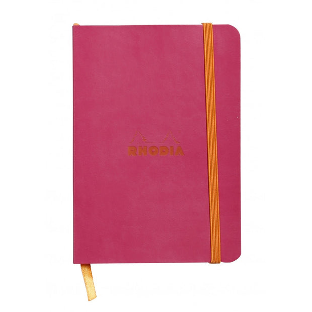 Rhodia Rhodiarama Soft Cover A5 Notebook - Dot Grid - Raspberry