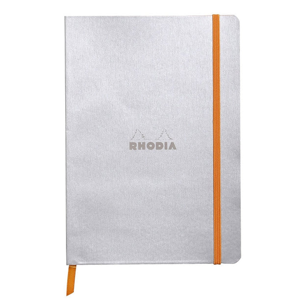 Rhodia Rhodiarama Soft Cover A5 Notebook - Dot Grid - Silver
