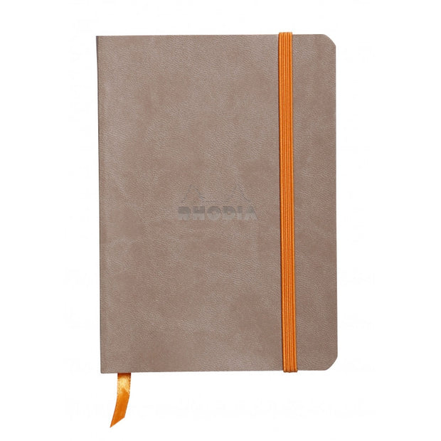 Rhodia Rhodiarama Soft Cover A5 Notebook - Ruled - Taupe