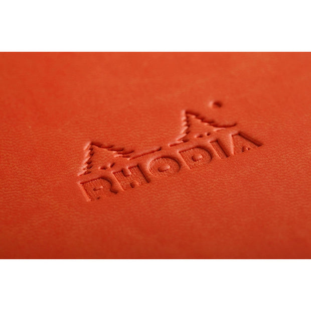 Rhodia Rhodiarama A5 Hard Cover Notebook - Ruled - Tangerine