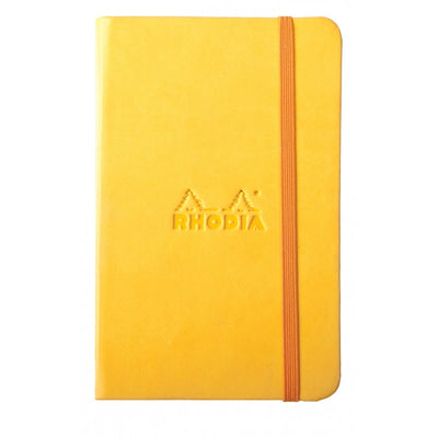 Rhodia Rhodiarama A5 Hard Cover Notebook - Plain - Yellow
