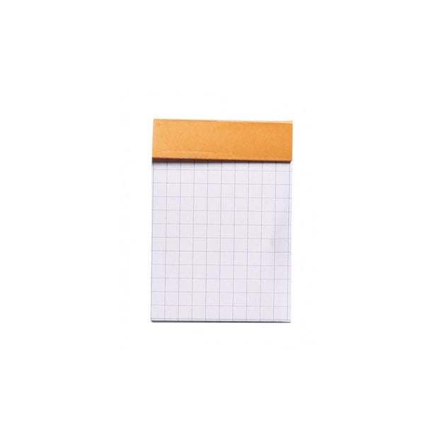 Rhodia Staplebound Notepad - Graph 80 sheets - 2 x 3 - Orange cover