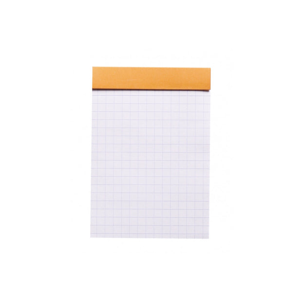 Rhodia Staplebound Notepad - Graph 80 sheets - 3 x 4 - Orange cover