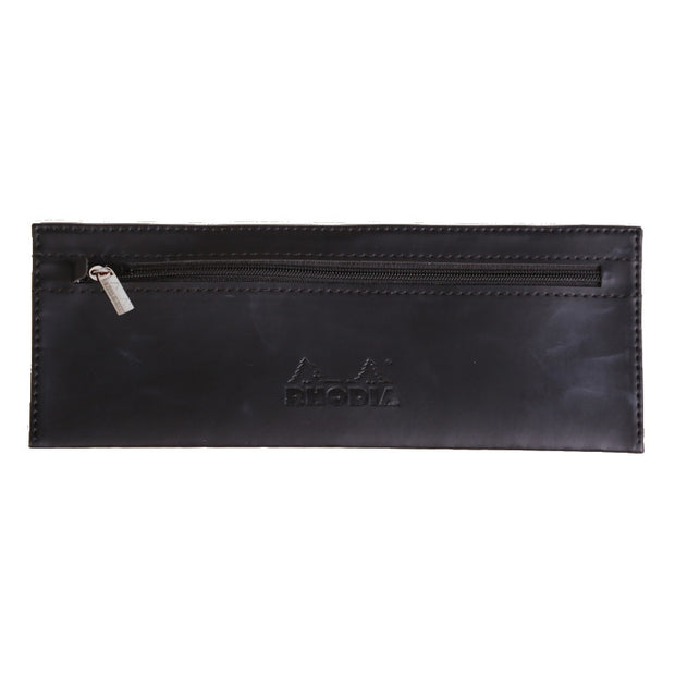 Rhodia Pencil Case - 8 11/16 x 3 3/8 - Black