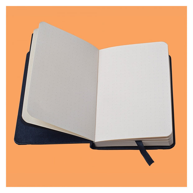 Rhodia Webnotebook Webbies - Dot grid 96 sheets - 3 1/2 x 5 1/2 - Black cover