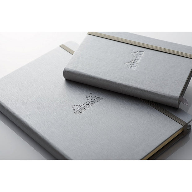 Rhodia Webnotebook Webbies - Lined 96 sheets - 5 1/2 x 8 1/4 - Silver cover