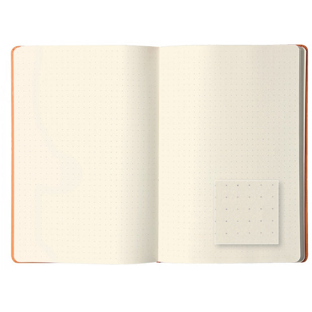 Rhodia Webnotebook Webbies - Dot grid 96 sheets - 5 1/2 x 8 1/4 - Orange cover