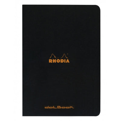 Rhodia Slim Staplebound Notebook - Dot grid 48 sheets - 8 1/4 x 11 3/4 - Black cover