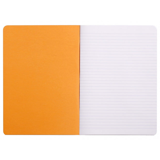 Rhodia Slim Staplebound Notebook - Lined 48 sheets - 8 1/4 x 11 3/4 - Orange cover
