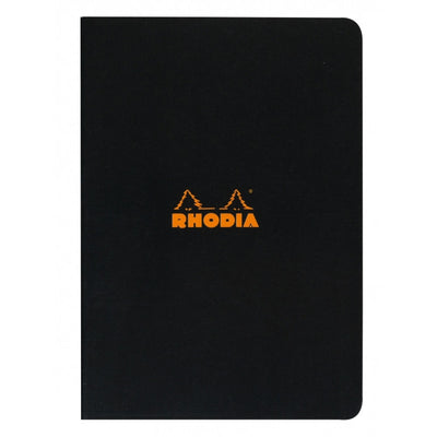 Rhodia Slim Staplebound Notebook - Lined 48 sheets - 8 1/4 x 11 3/4 - Black cover